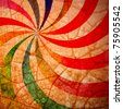 Colorful spiral in background crack - stock photo
