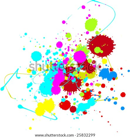 Colorful splatter. Look the vector version of this illustration in my portfolio.