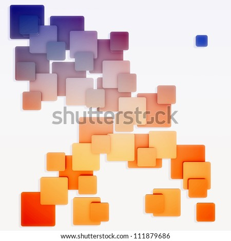 Colorful square abstract pattern - stock photo
