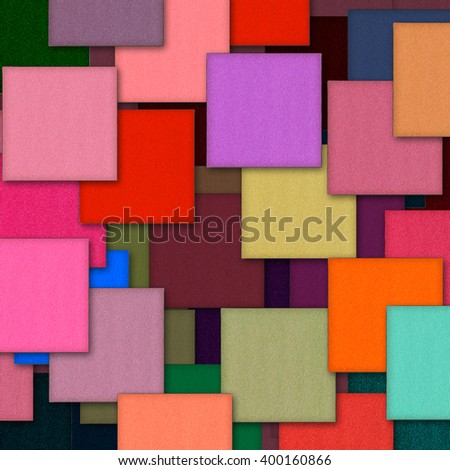 colorful square eye shadows background - stock photo
