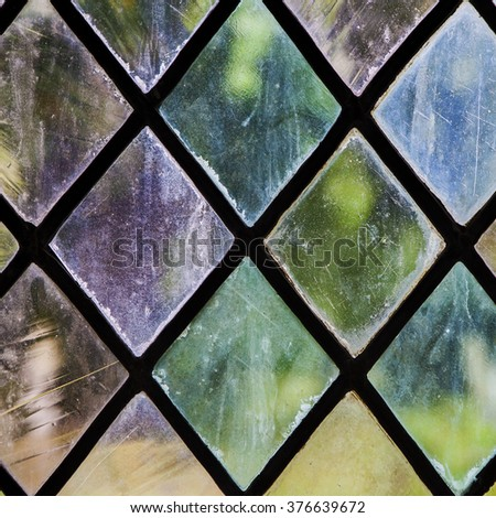 Colorful Stained Glass Pattern - stock photo