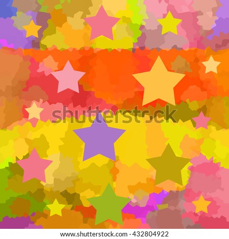 Colorful starry background - stock photo