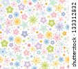 Colorful stars seamless pattern background raster - stock photo