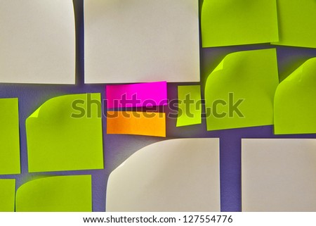 colorful sticker on gray background