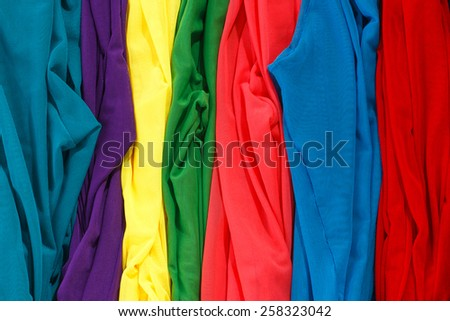 Colorful stockings background. Multicolored tights