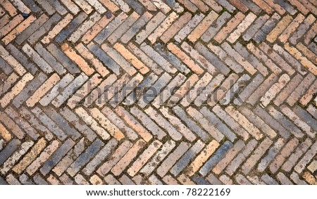 Colorful stone block paving - stock photo