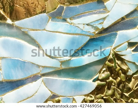 Colorful stone mosaic art background