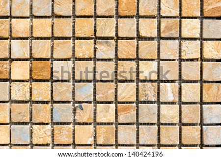 Colorful stone tiles pattern - closeup background, texture - stock photo