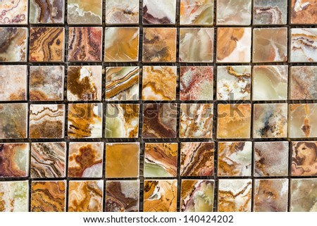 Colorful stone tiles pattern - closeup background, texture