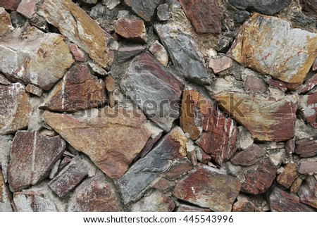 Colorful stone wall texure. use for background