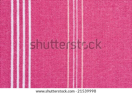 Colorful striped cotton fabric - stock photo