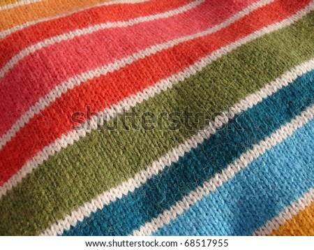Colorful stripy mohair textile close up. More of this motif & more fabrics in my port. - stock photo