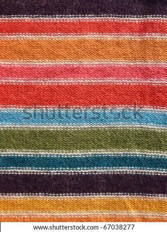 Colorful stripy mohair woolen fabric texture close up. More of this motif & more textiles in my port. - stock photo