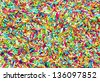 colorful sugar sprinkles as background - stock photo
