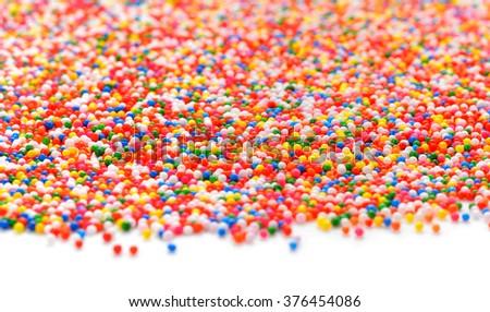 Colorful sugar sprinkles-Rainbow Colored - stock photo