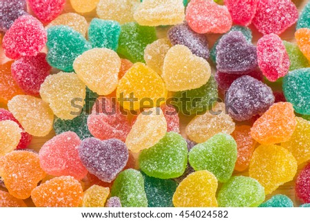 Colorful sugary candy - stock photo