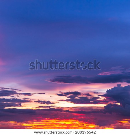 colorful sunset abstract for background