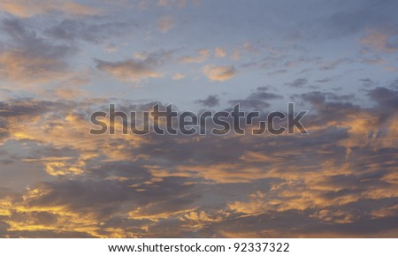 Colorful sunset sky. - stock photo