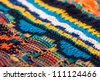 Colorful Sweater Knitting Texture, closeup - stock photo