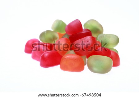 colorful sweet jelly beans - stock photo