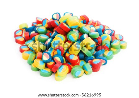 Colorful sweets isolated on the white background - stock photo