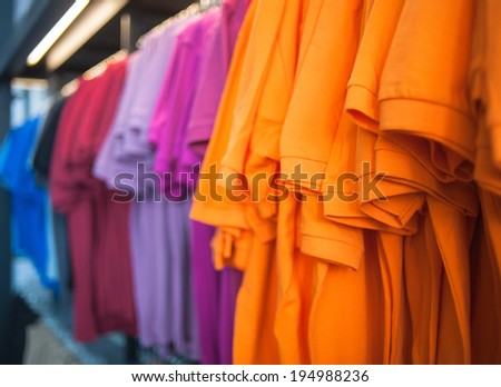 Colorful t-shirt - stock photo
