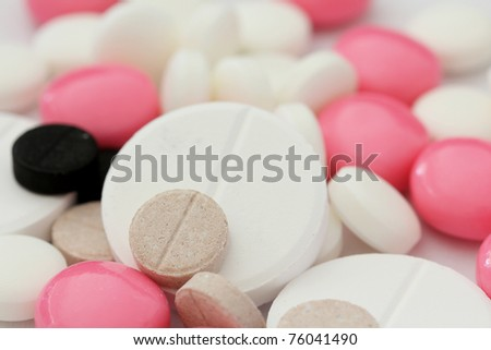 Colorful tablets background,shallow dof