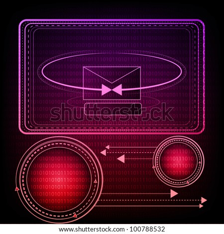 Colorful Technology Background. Eps Version Also Available In Gallery. - stock photo