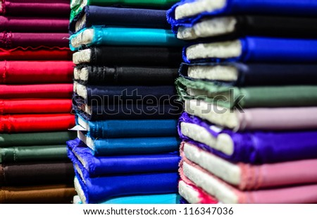 Colorful textiles background - stock photo