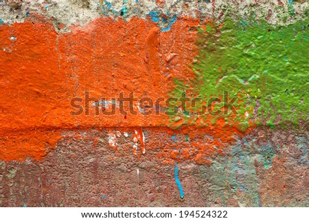 Colorful texture of cement wall. - stock photo