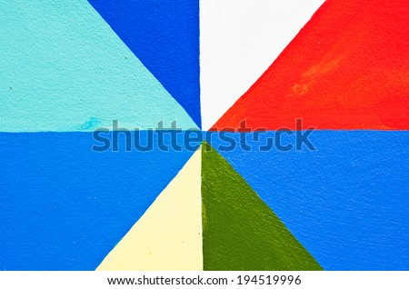 Colorful texture on the wall as  artistic,  - stock photo
