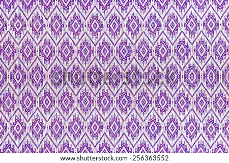 Colorful thai handcraft peruvian style rug surface close up. More of this motif & more textiles peruvian stripe beautiful background tapestry persian nomad detail pattern arabic fashionable textil - stock photo