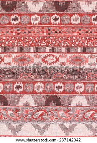 Colorful Thailand style rug surface close up vintage fabric is made of hand-woven cotton fabric More of this motif.