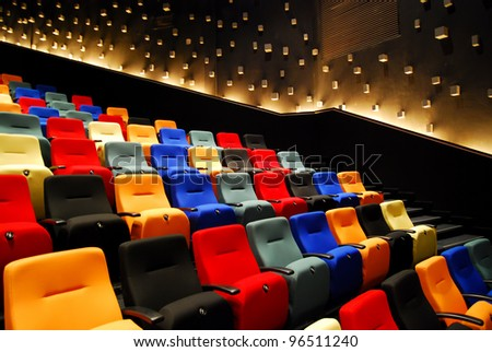 Colorful theater seats