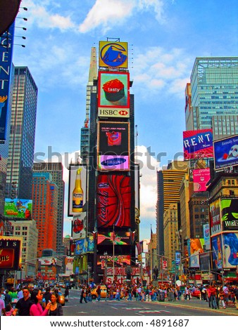 Colorful Times Square - stock photo