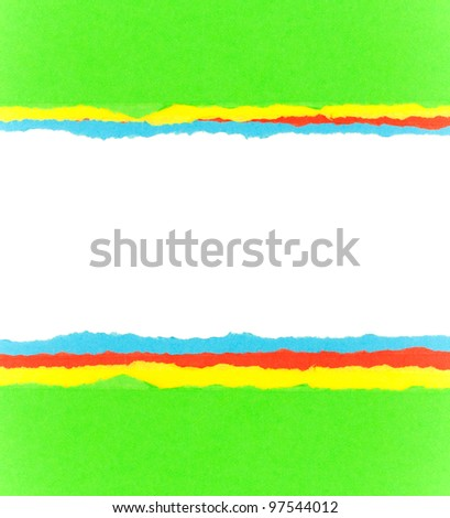 Colorful torn paper background with space for your message