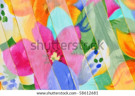 Colorful Tropical background pattern - stock photo