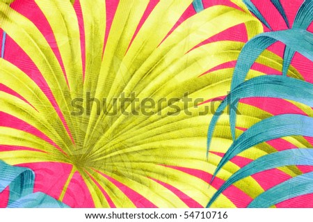 Colorful tropical background pattern or design - stock photo