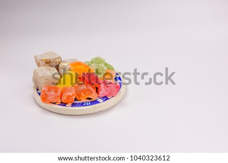 Download Turkey Eid Al-Fitr Food - stock-photo-colorful-turkish-delight-lokum-with-nuts-on-plate-a-traditional-eid-al-fitr-sweet-1040323612  Pictures_8497 .jpg