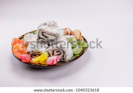 Download Turkey Eid Al-Fitr Food - stock-photo-colorful-turkish-delight-lokum-with-nuts-on-plate-a-traditional-eid-al-fitr-sweet-1040323618  Pictures_8497 .jpg