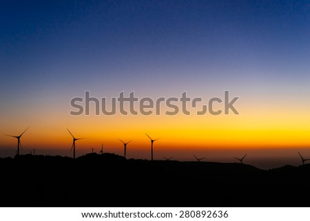 Colorful Twilight Sky - stock photo