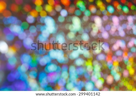 Colorful varicoloured and blurred circles as an abstract background texture