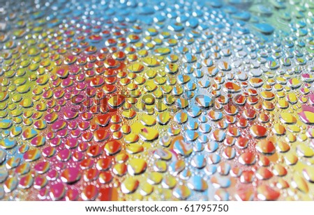 colorful water drops - stock photo