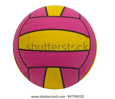 Colorful water polo sport ball - stock photo