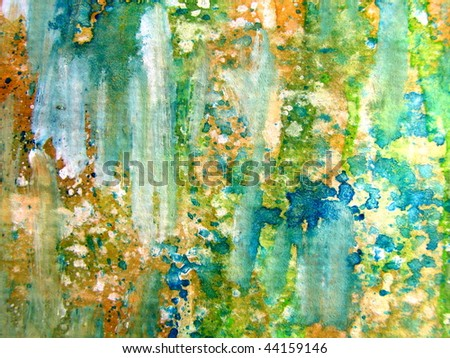 Colorful Watercolor Abstract 1 - stock photo