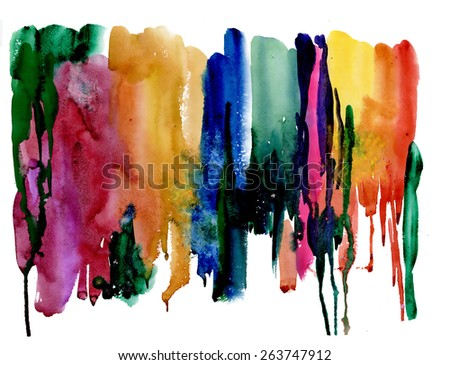 Colorful watercolor abstract background