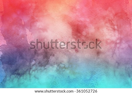 Colorful watercolor background. - stock photo