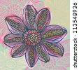 Colorful watercolor bright flower-model for design of gift packs, patterns fabric, wallpaper, web sites, etc. - stock photo