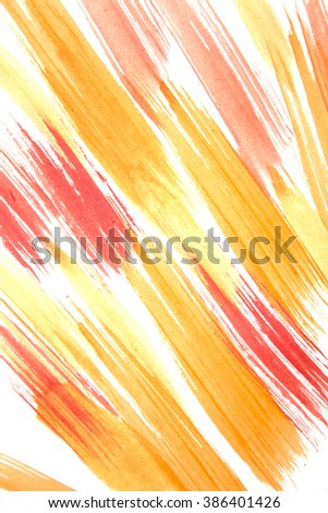 Colorful watercolor brush strokes/Background with colorful lines/Hand drawing.