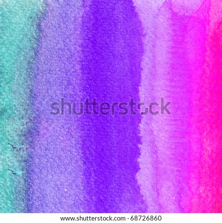 colorful watercolor brush strokes for background - stock photo